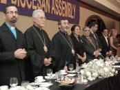 Clergy and guests at the head table at the Grand Banquet of the 111th Diocesan Assembly in Boca Raton