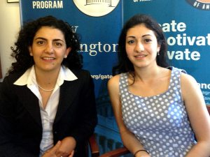 ANCA Governmental Affairs Director Kate Nahapetian (L) and Lilly Torosyan.