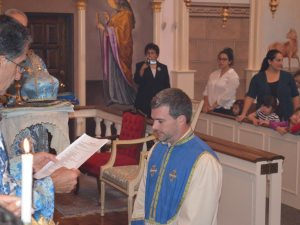 Jeremy Oldham is ordained a sub-deacon in the Armenian Church.