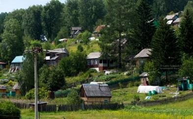 Holzhäuser in Sibirien