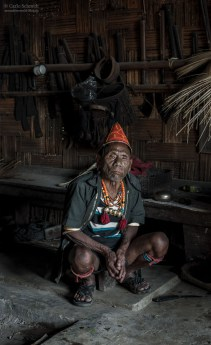 Kopfjäger und Häuptling in Nagaland