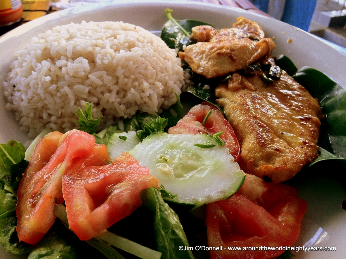 Panamanian Food. Fish, Meat, Plantains and Rice. | Around the World in Eighty Years