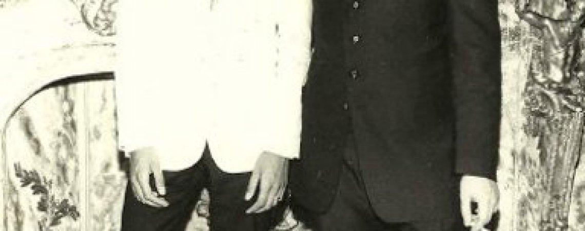 Foto familiar de la juventud de Eduardo