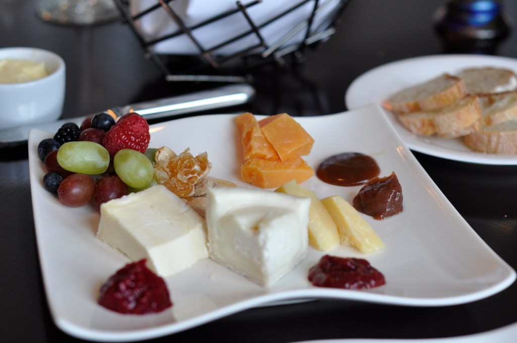 Gourmet cheese selections and paired condiments from the Montage's fromagiers.  Credit: Curt Woodhall