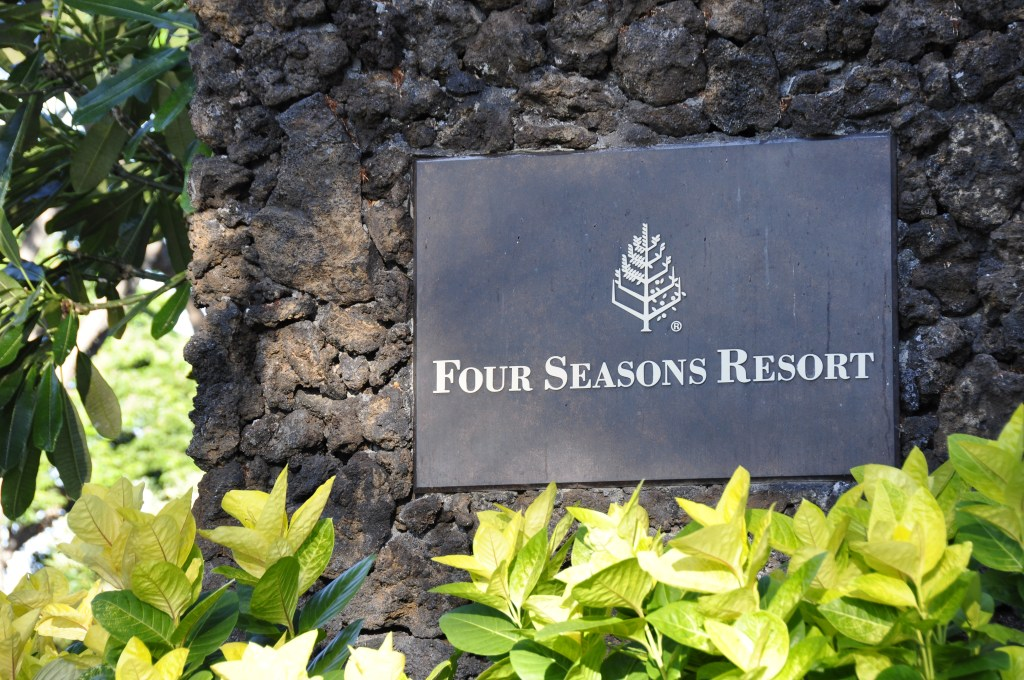 Welcome to the Four Seasons Resort Hualālai at Historic Ka'ūpūlehu. Credit: Curt Woodhall