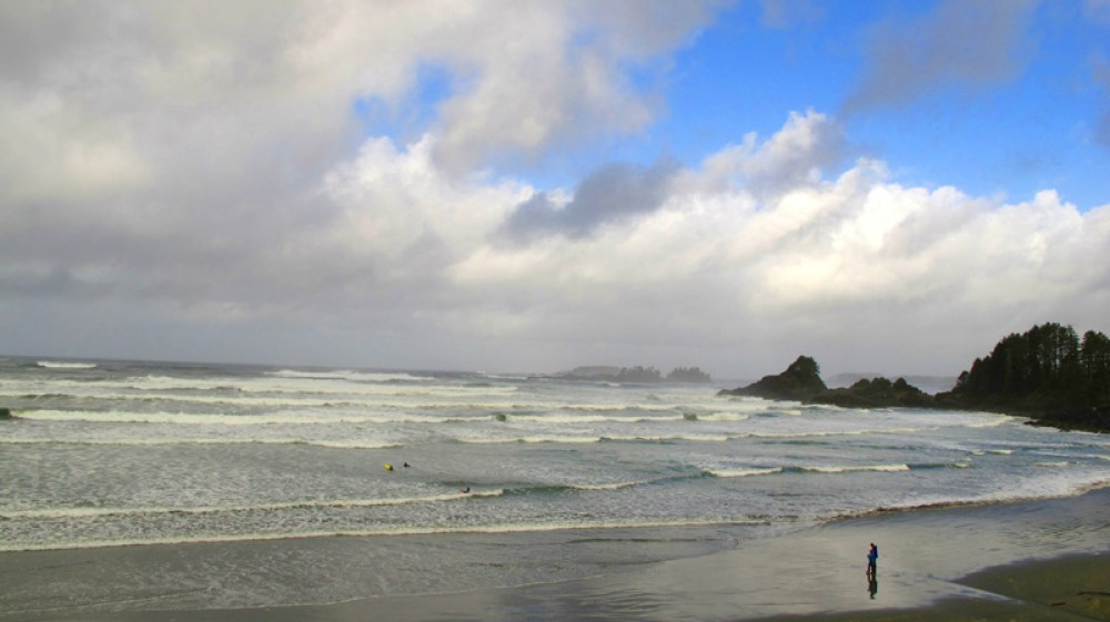 Cox Bay in front of Long Beach Lodge, Tofino