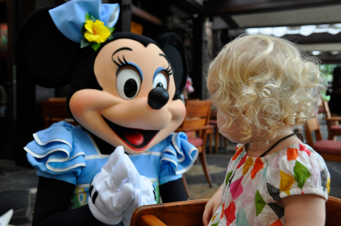 At Aulani, kids get to mingle with the Disney characters for breakfast. Credit: Curt Woodhall