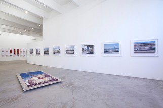 "View of Joana Hadjithomas & Khalil Joreige's ""The Lebanese Rocket Society – A Tribute to Dreamers (Parts II, III, IV, and V),"" CRG Gallery, New York, 2013."