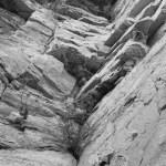 Blick eine Felswand hinauf