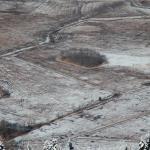Blick vom Engelstein auf das bereifte Bergener Moos
