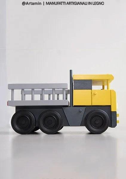 camion giocattolo in legno - shop Artamin