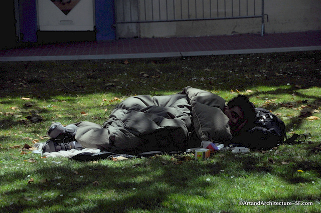Homeless in UN Plaza