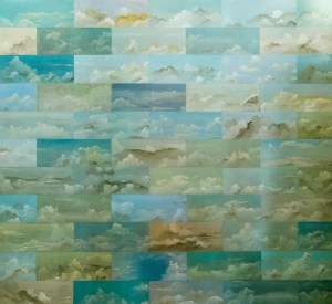 "The Color of the Sky Divided 2012-13 | 66""x72"" 