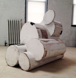 Jeff Feld; The intention is pure and so on; 2012; Cardboard, latex