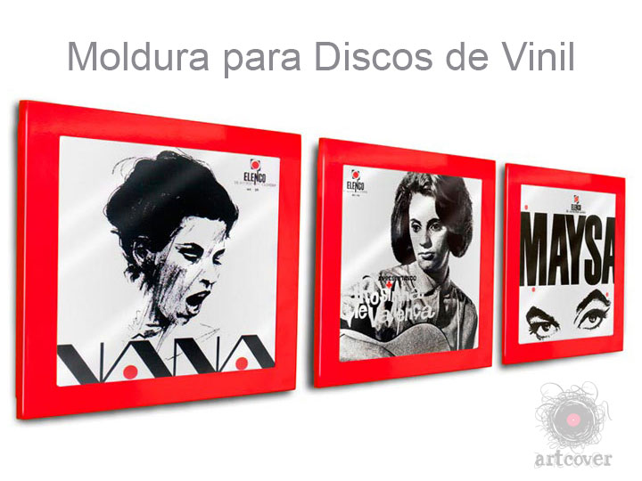 Moldura Para Disco Vinil Vermelho 03