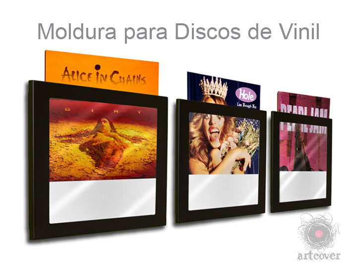 Moldura Para Disco Vinil Preto 02