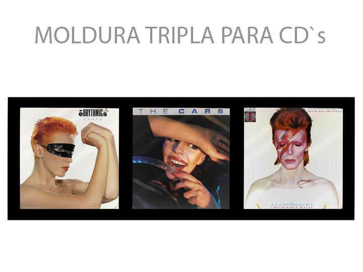 Moldura Tripla Para CD`s 02