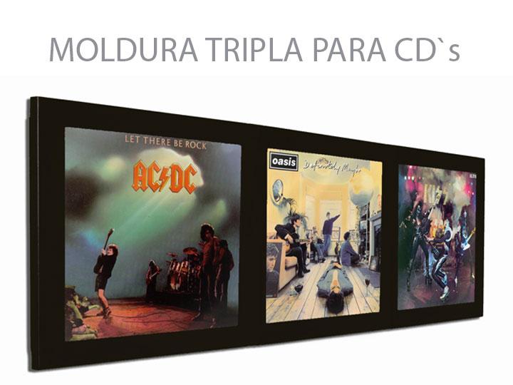 Moldura Tripla Para CD`s 03