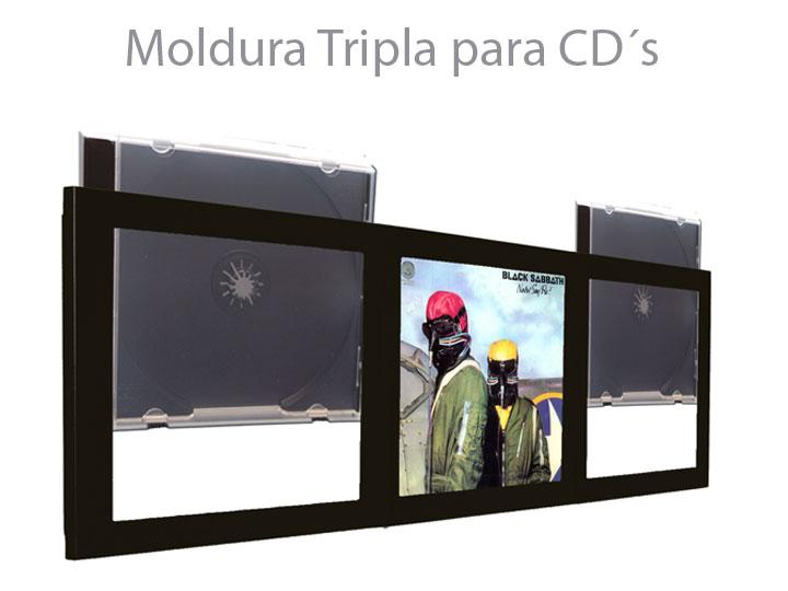 Moldura Tripla Para CD`s 01