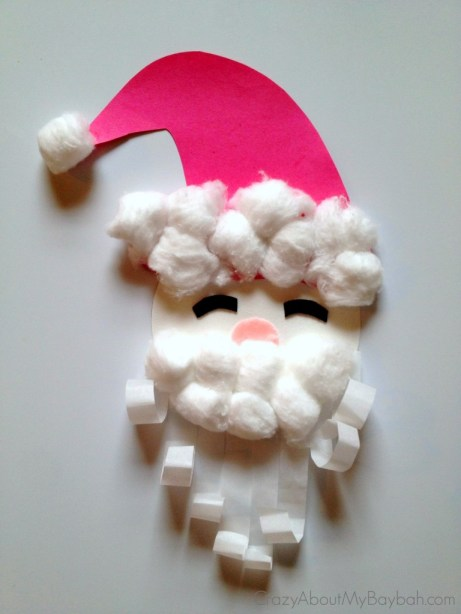 25 Winter and Christmas Crafts for Kids Christmas Santa Craft for Kids #Toddlers #Preschoolers #Homeschool