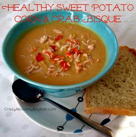 Healthy Sweet Potato Corn and Crab Bisque Recipe #Fitfluential