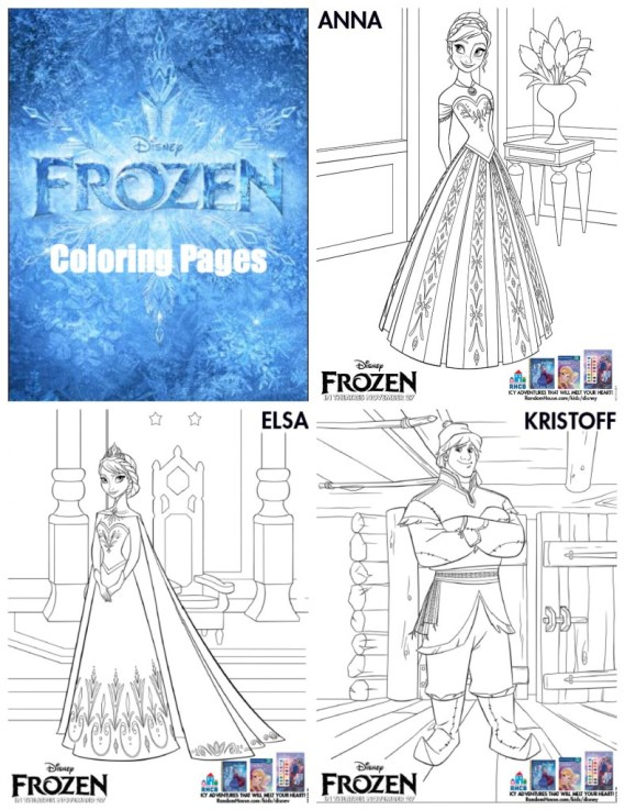 Disney Frozen Coloring Pages #Printables