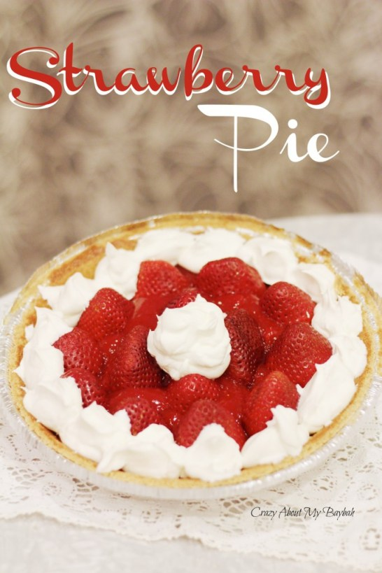 Strawberry Pie Recipe #SweetSwaps #AD