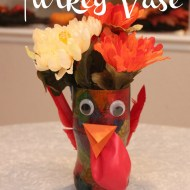Thanksgiving Craft for Kids | Turkey Vase Centerpiece
