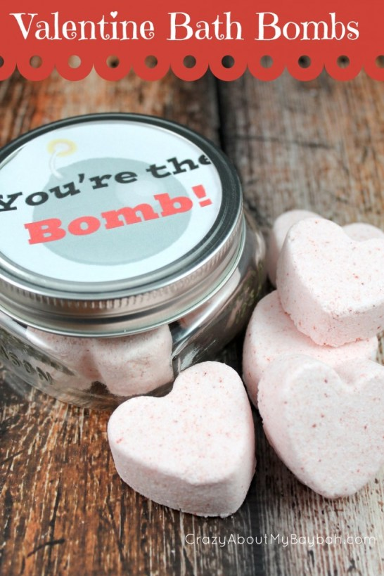 You're the Bomb Valentine Bath Bombs an Free Printable