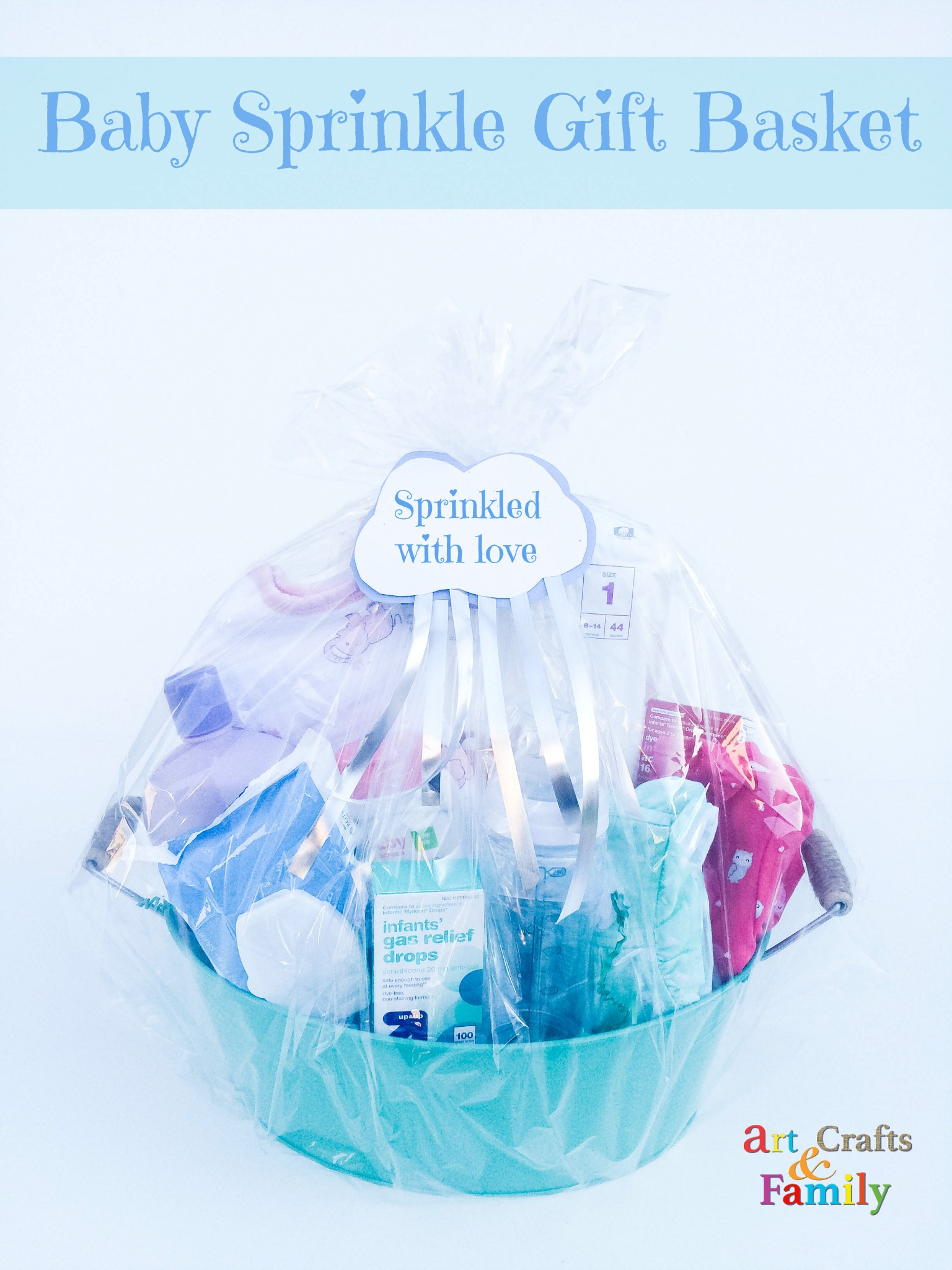 Baby Gift Basket Essentials : Baby sprinkle gift basket art crafts family