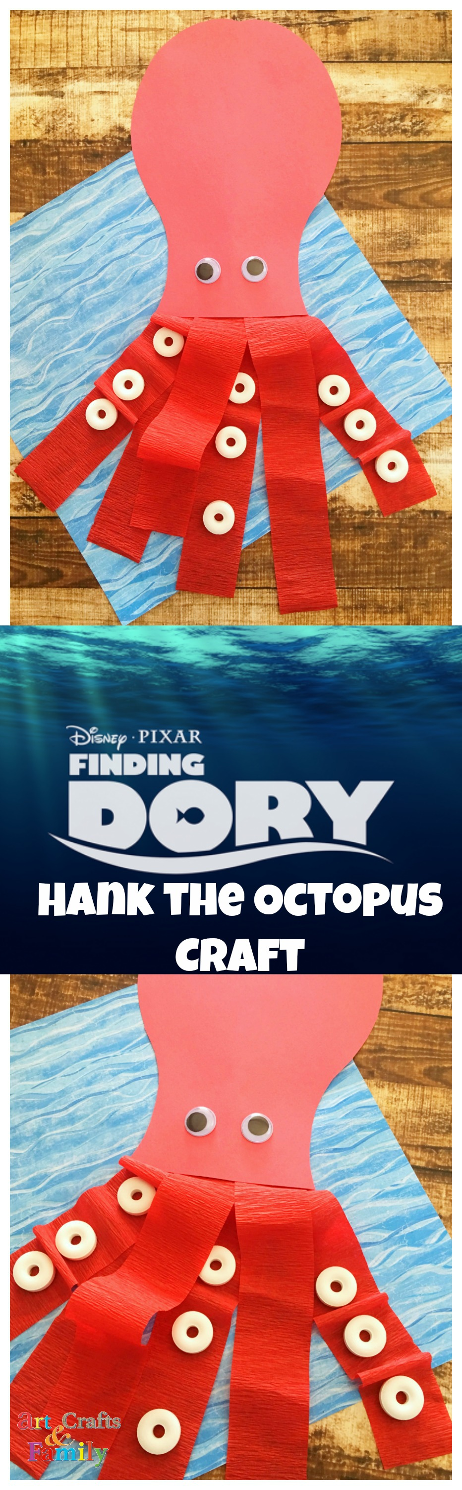 Finding Dory Craft | Create your own Hank the Octopus (septopus)