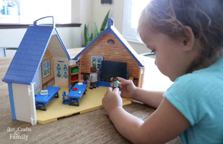 Playmobil School Bus and Take Along School House Toys Sets