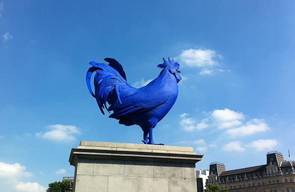 ArteCompacto: El gallo azul de Trafalgar Square