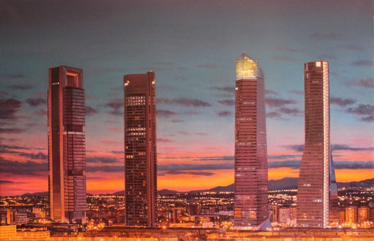 rascacielos de madrid-cuatro torres-puesta de sol-ana gulias velazquez