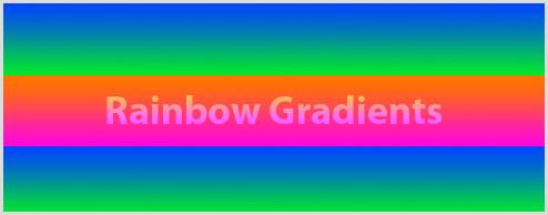 Using rainbow gradients