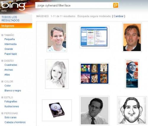 Bing Reconocimiento Facial