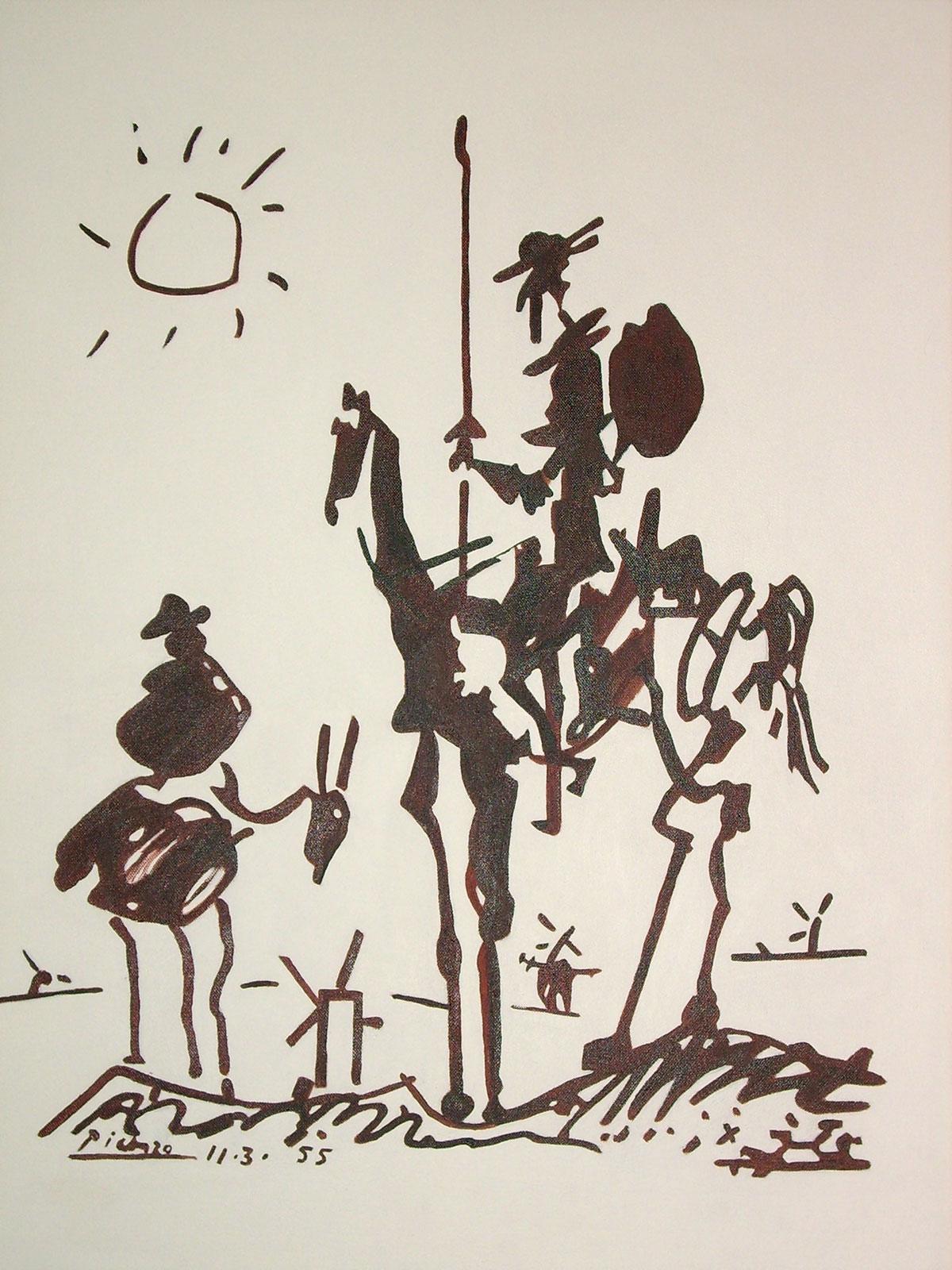 Lovely By Pablo Picasso Don Quixote Picasso Don Quixote Lithograph Picasso Don Quixote Plate houzz-03 Picasso Don Quixote