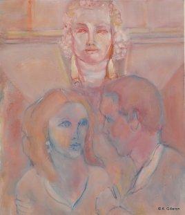 H08 - Indiscrétion au bas relief (65 x 54 cm)