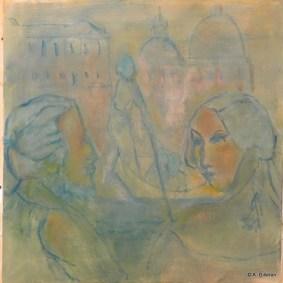 H53 - Les amants terribles (50 x 50 cm)