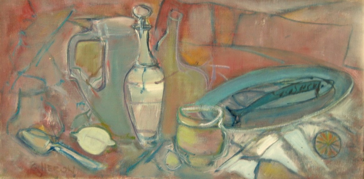 AET Nature morte au poisson 40x80 cm 01