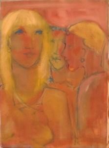 Trio Huile sur toile 60 x 50 cm