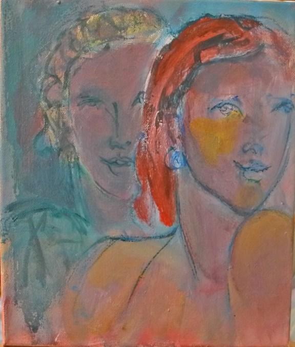 L'épaule nue Huile sur toile 29,5 x 25 cm