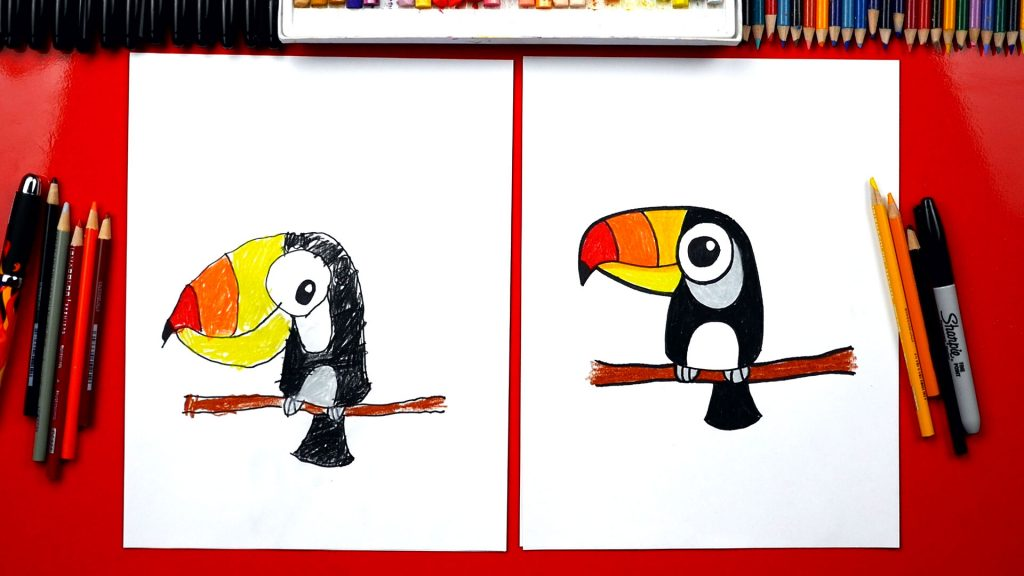 How To Draw How To Draw A Cartoon Toucan