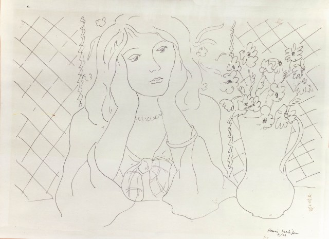 Matisse drawing2C fake
