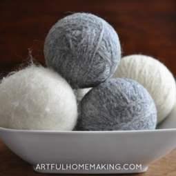 DIY Homemade Wool Dryer Balls