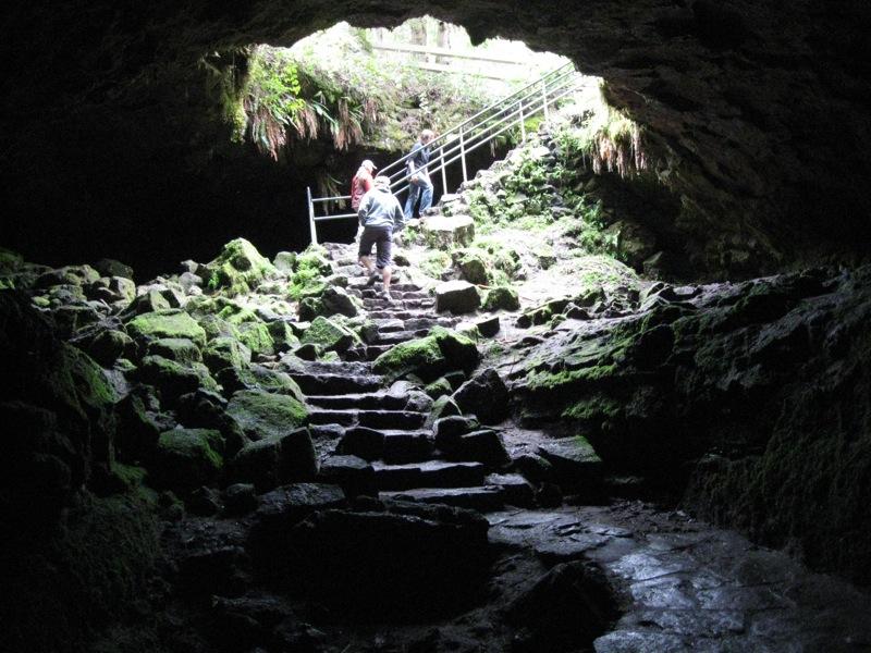 Ape Cave in Cougar, Washington