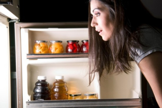 woman in fridge