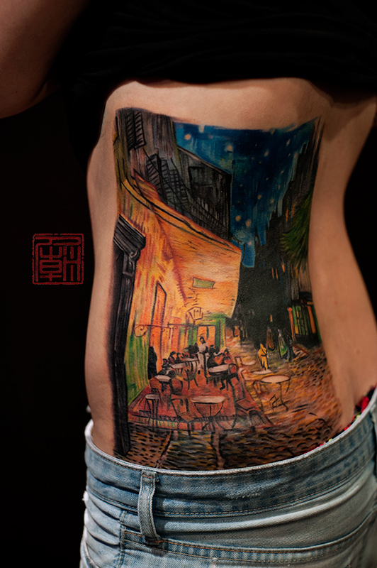 Tattoo, The Night Cafe by Vincent van Gogh