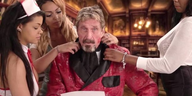 John McAfee in video