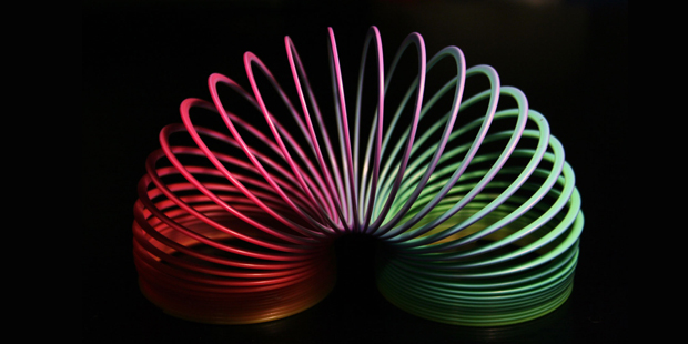 Slinky, slinky, how do you describe a slinky? (en.wikipedia.org)